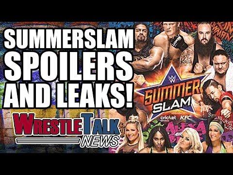 WWE Summerslam 2017 Spoilers, Result Leaks, Rumors & More! | WrestleTalk News Aug. 2017