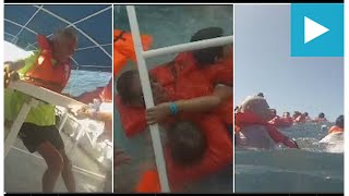 terrifying moment of fatal costa rica tourist boat sinking
