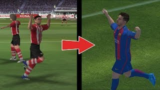 EVOLUTION OF PES Mobile 10 to 17 (Android & ios)