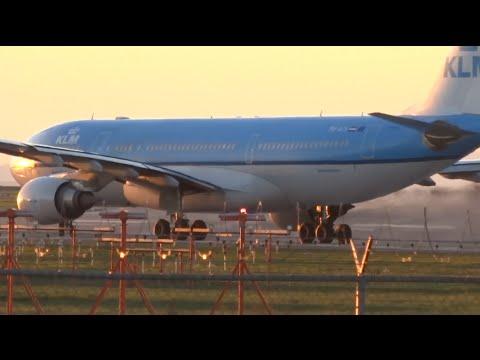 KLM Airbus A320-200 | Plane Spotting Departures (1080HD) | Crosswind Landings