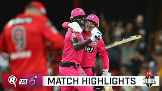 Holder's final-over heroics see Sixes win another thriller | KFC BBL|10
