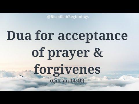LEARN the Dua for acceptance of prayer & forgivenes | Rabbij-alni muqimas swalati wa min thurriyyat