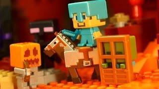 Майнкрафт - Видео для Детей !!! Minecraft Mattel Toys - Игрушки для Мальчиков - Обзор на русском