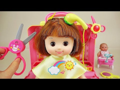 Baby Doll hair shop play baby Doli friends play