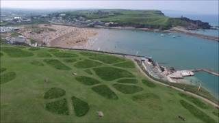 Bude, Cornwall filmed by Drone.
