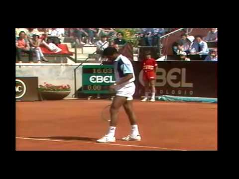 Yannick Noah vs  Boris Becker  SF Rome 1985
