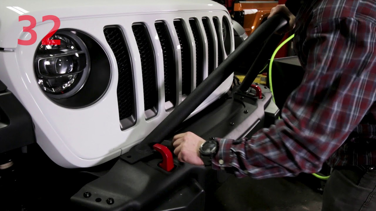 Bolt-on Hoops for JL Steel Front Bumper, Now Available