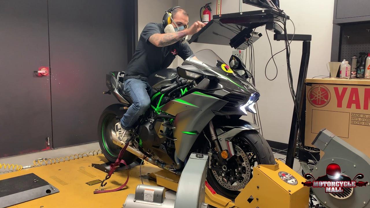 2019 Kawasaki Ninja H2 Carbon Vandemon Dyno Test Youtube
