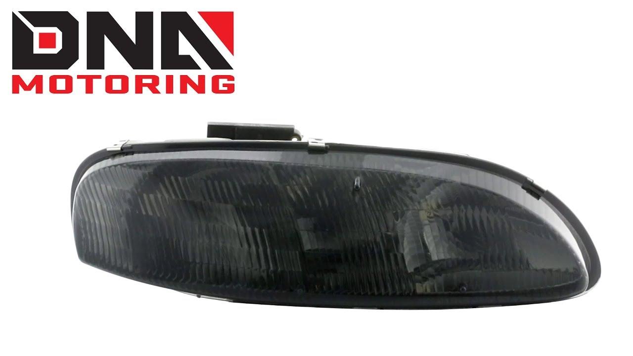 95 01 Chevy Lumina 99 Monte Carlo Smoked Clear Headlights