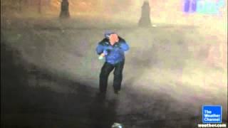 Reporter gets OWNED by hurricane Isaac & nearly gets blown away