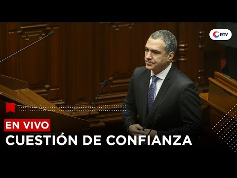 Pleno debate cuestión de confianza   RTV EN VIVO