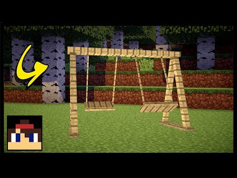 ✔ Minecraft PE: How To Make A Working Swing Set | No Mods Or Commands!