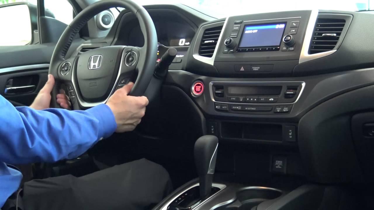 Inside tech features of the 2017 Honda Ridgeline RTL  YouTube