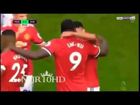 Romelu Lukaku Goal - Manchester United vs Everton (3-0) - Premier League 17/09/2017