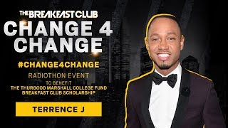 Terrence J Calls In With A Donation To #Change4Change