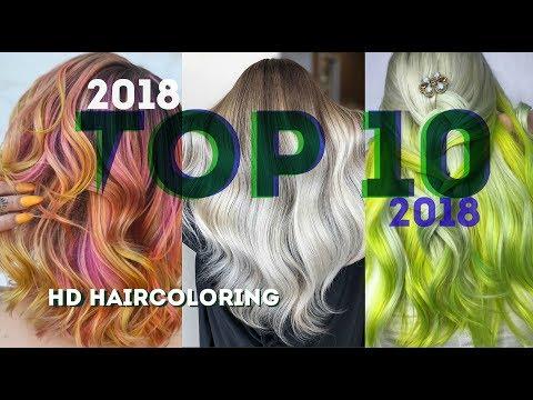 TOП 10 Окрашиваний Волос 2018 /  NEW 2018 Hair Color Transformations - Видео онлайн