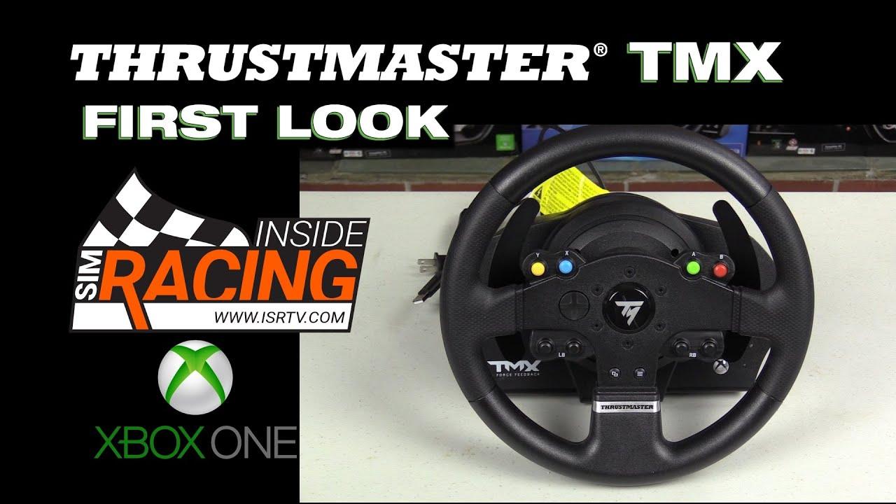 thrustmaster tmx force feedback wheel first look youtube. Black Bedroom Furniture Sets. Home Design Ideas