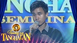 Tawag ng Tanghalan Carlmalone Montecido  Basta39;t Kasama Kita (Round 3 Semifinals)