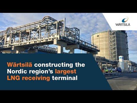 Constructing the Nordic region's largest LNG receiving terminal | Wärtsilä
