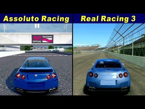 Assoluto Racing Vs Real Racing 3 - Nissan GT-R R35