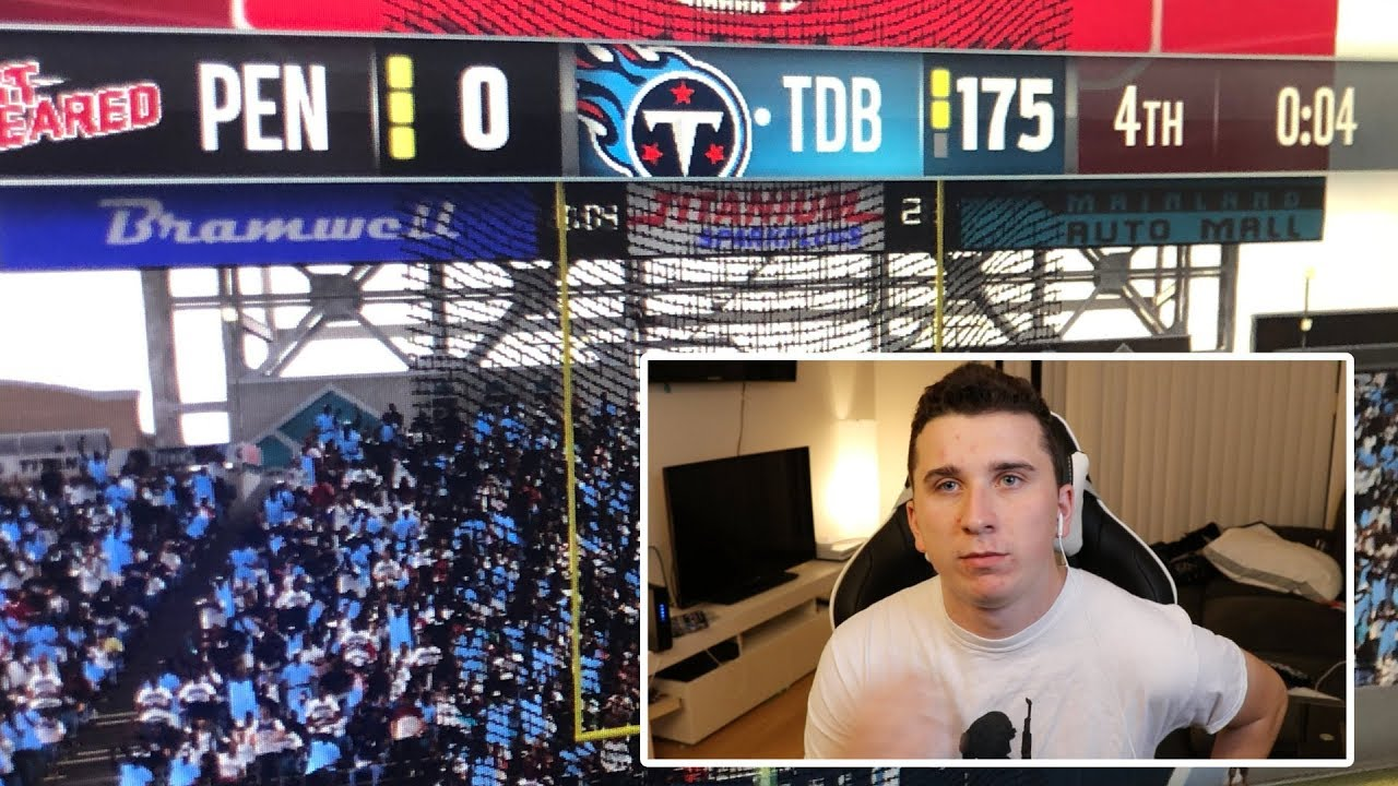 I scored 175 points in a online madden 19 game..