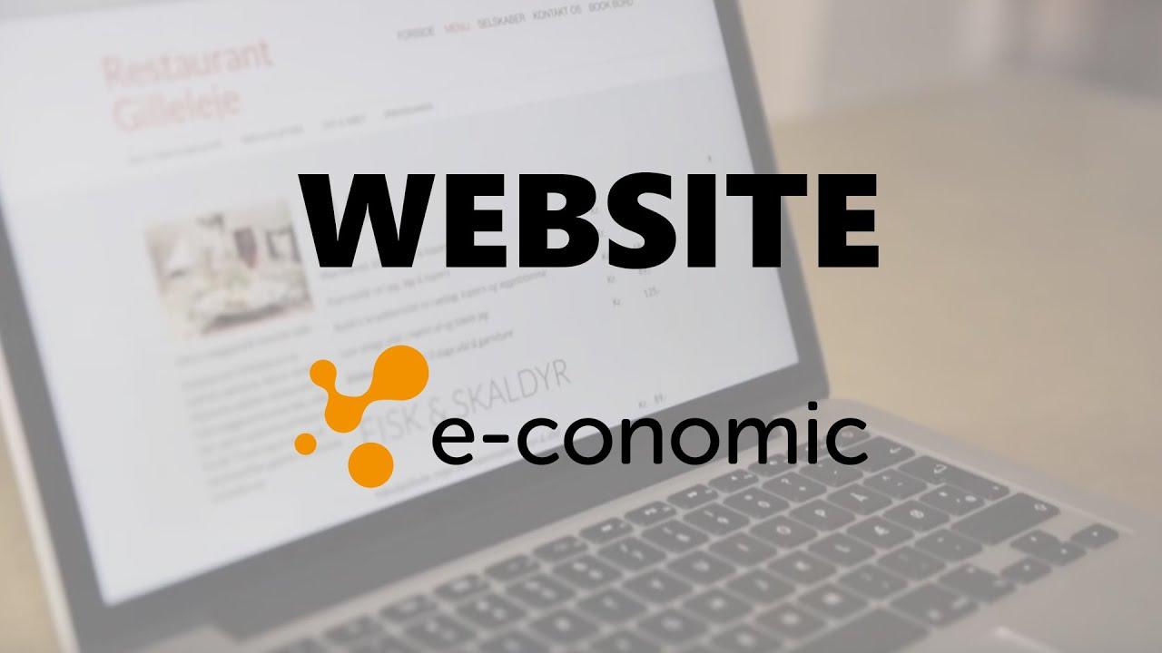 Lav din egen hjemmeside GRATIS med e-conomic - YouTube