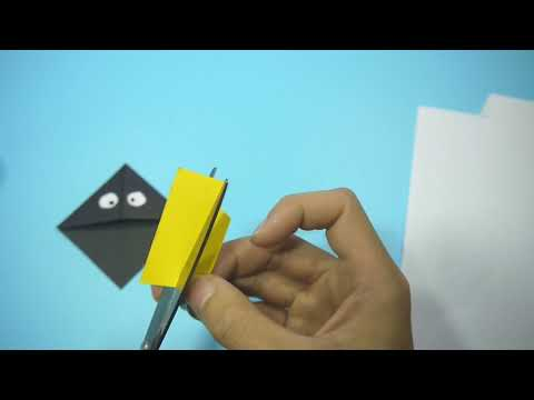 Black Angry Bird Bookmark DIY Paper Craft
