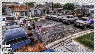 Huge Police vs Gang War - GTA 5 MOD