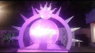 LATEST VERMALA BRIDE GROOM ENTRY GLOBE SUN THEME 09891478183 bride entry theme
