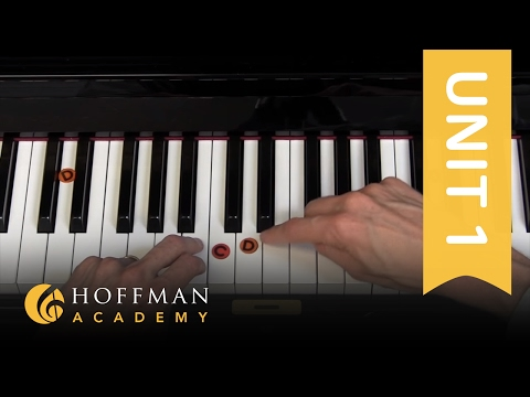 Finding C, D, & E on the Piano - Piano Lesson 4 - Hoffman Academy