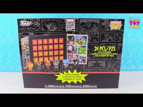 Funko Marvel Pocket Pop Advent Calendar Unboxing | PSToyReviews