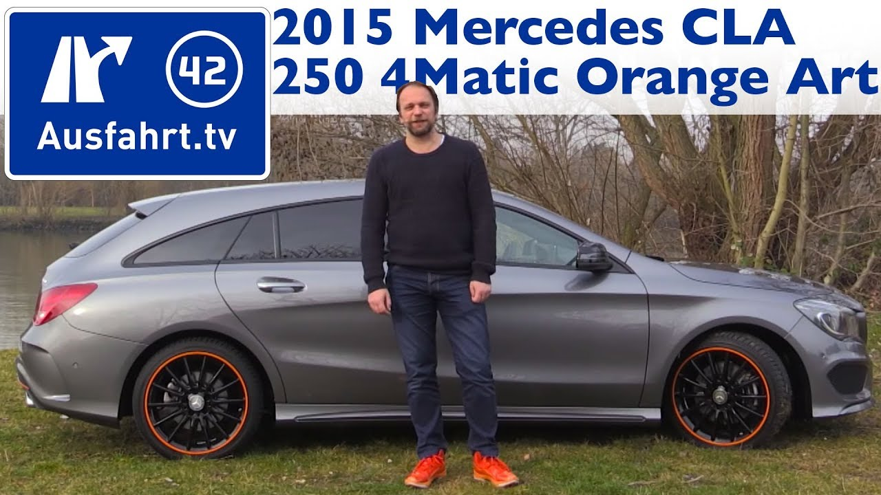 2015 mb cla 250 4matic shooting brake orangeart edition x117 kaufberatung test review. Black Bedroom Furniture Sets. Home Design Ideas