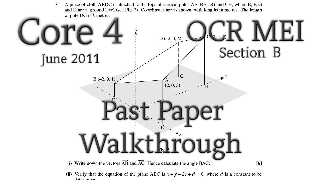 OCR MEI C4 Past Paper Walkthrough (Section B)(June 2011
