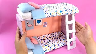 How to make Miniature Bunk Bed with a Shoebox