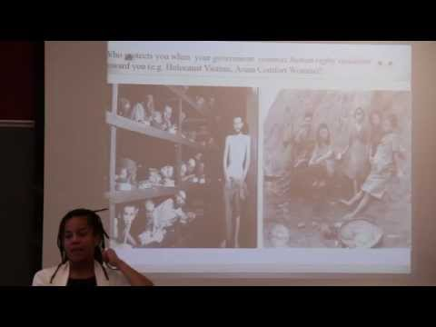 """Jennifer Moore  Kathy Powers   """"Panel Discussion on Transitional Justice"""""""