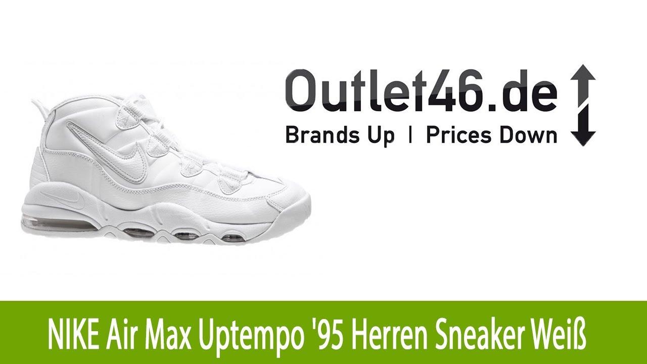 Exklusiver NIKE Air Max Uptempo '95 Herren Sneaker Weiß l