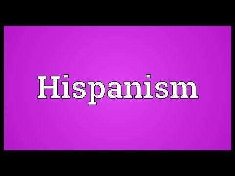 Header of hispanism