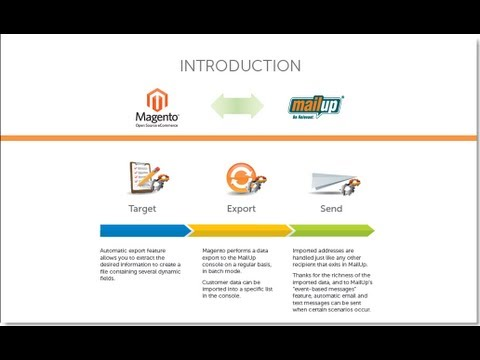 Magento Extension - Email Marketing | Email Integration by MailUp