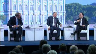 Ответы на вопросы участников Петербургского международного экономического форума