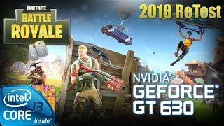 FORTNITE: Battle Royale (2018) | Gameplay ON GT630 2GB DDR3 [HD 60FPS]