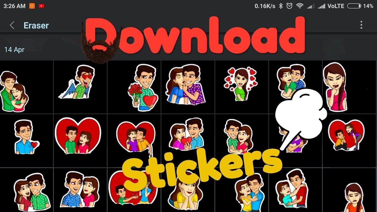 How To Download Sticker For Whatsapp Statusediting By Every Things