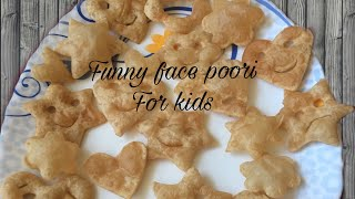 Funny Face Poori For Kids(a special morning snack) Vijani's Kitchen ep:9