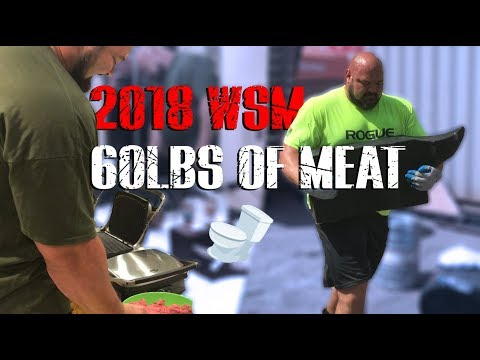 COOKING 60LBS OF MEAT IN A BATHROOM  | 2018 WSM BEHIND THE SCENES  | 4X WSM BRIAN SHAW