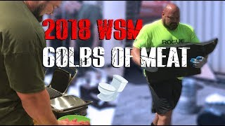 Download COOKING 60LBS OF MEAT IN A BATHROOM  | 2018 WSM BEHIND THE SCENES  | 4X WSM BRIAN SHAW Mp3 and Videos
