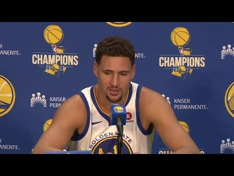 Klay Thompson Press Conference | Warriors Media Day 2018 NBA Season | Sep 22, 2017