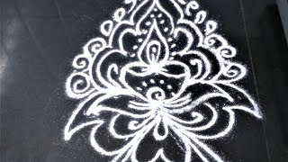 South Indian Kolam|Tamil Nadu Traditional Rangoli designs| RangoliDesigns 5