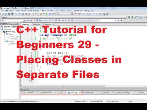 C++ Tutorial for Beginners 29 - Placing Classes in Separate Files in C++