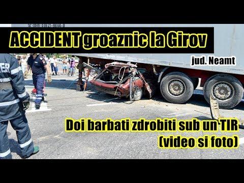 Momentul impactului la Girov- doi tineri zdrobiti sub TIR
