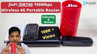 NEW Jio Fi JDR740 150Mbps Wireless 4G Router | Dongle | Unboxing & Review | Best for mobile internet