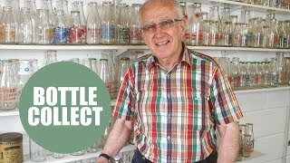 Retired dairy worker has massive collection of milk bottles